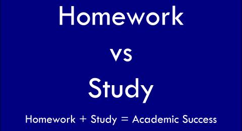 Homework vs Studying