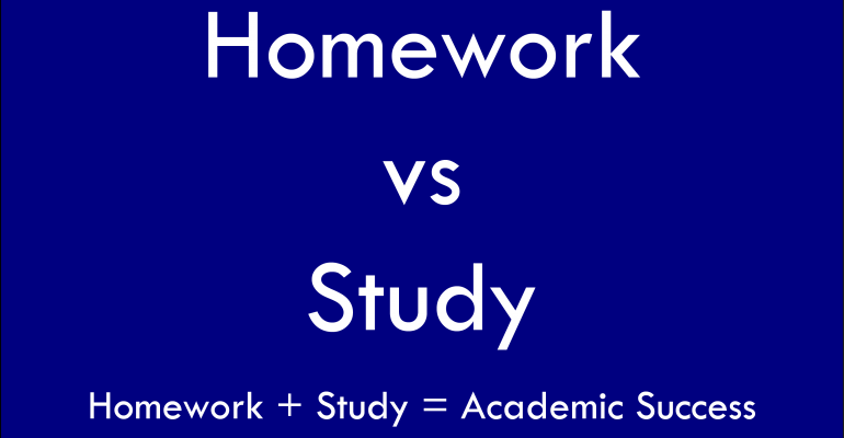 Homework vs Studying